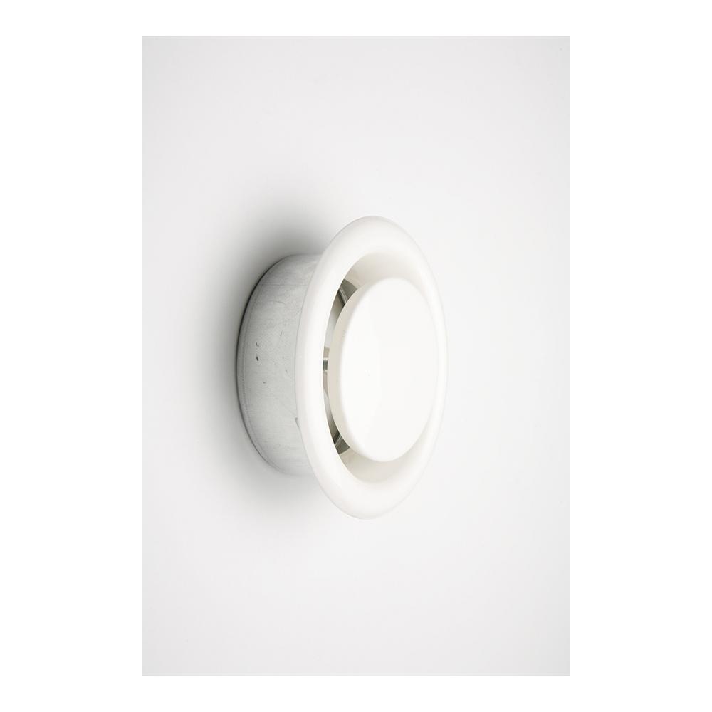 Difusor Empotrar Tubo Diam.12.5Cm Regulable Koppa Acero Blanco