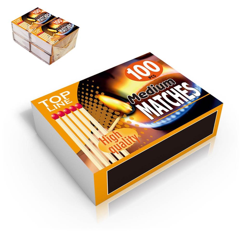 Pack de 4 cajas de cerillas (caja de 100 unid)