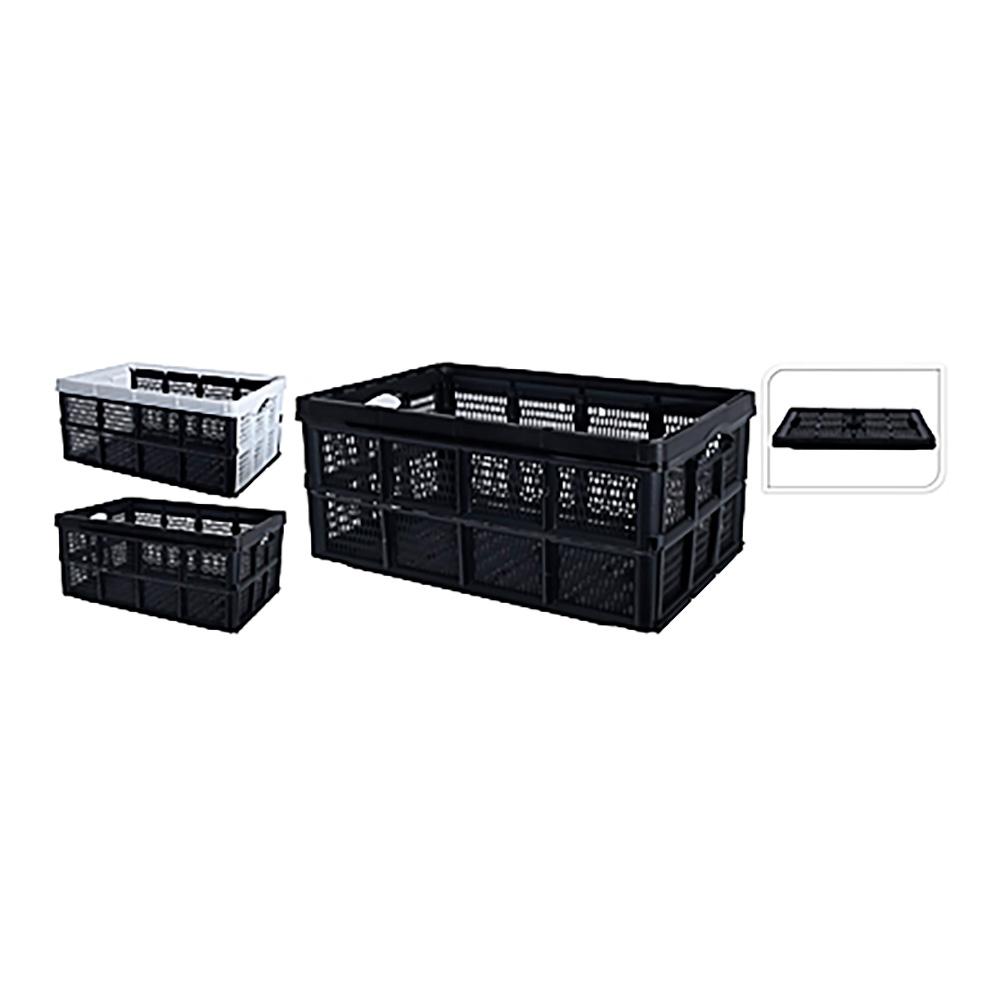 Caja Multiusos Desmontable 60L Colores Surtidos ( Negro O Blanco)