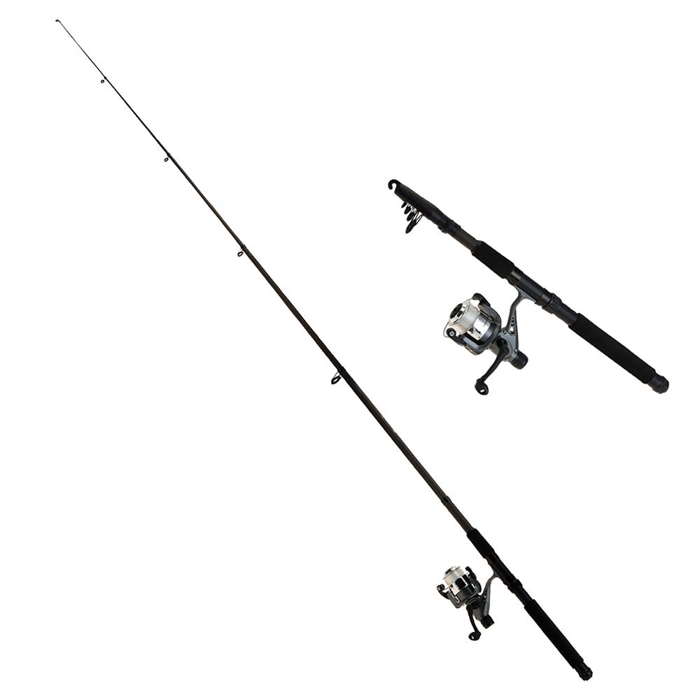 """Caña De Pescar Xq Max 8Ft Telescopic Combo Rod:8""""/240Cm"""