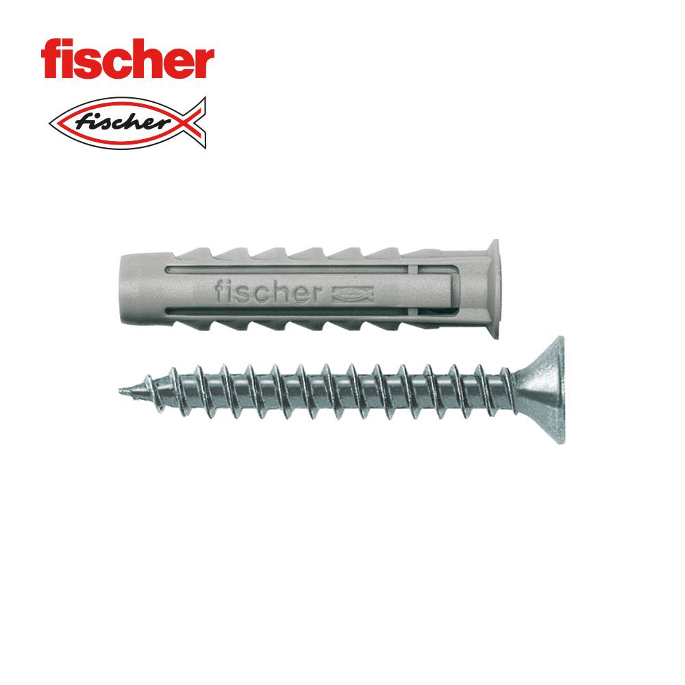 tornillos para madera Cincados Caja de 100 unidades Cinc Rosca parcial de 3,5x40 Fischer 670070 FPF II