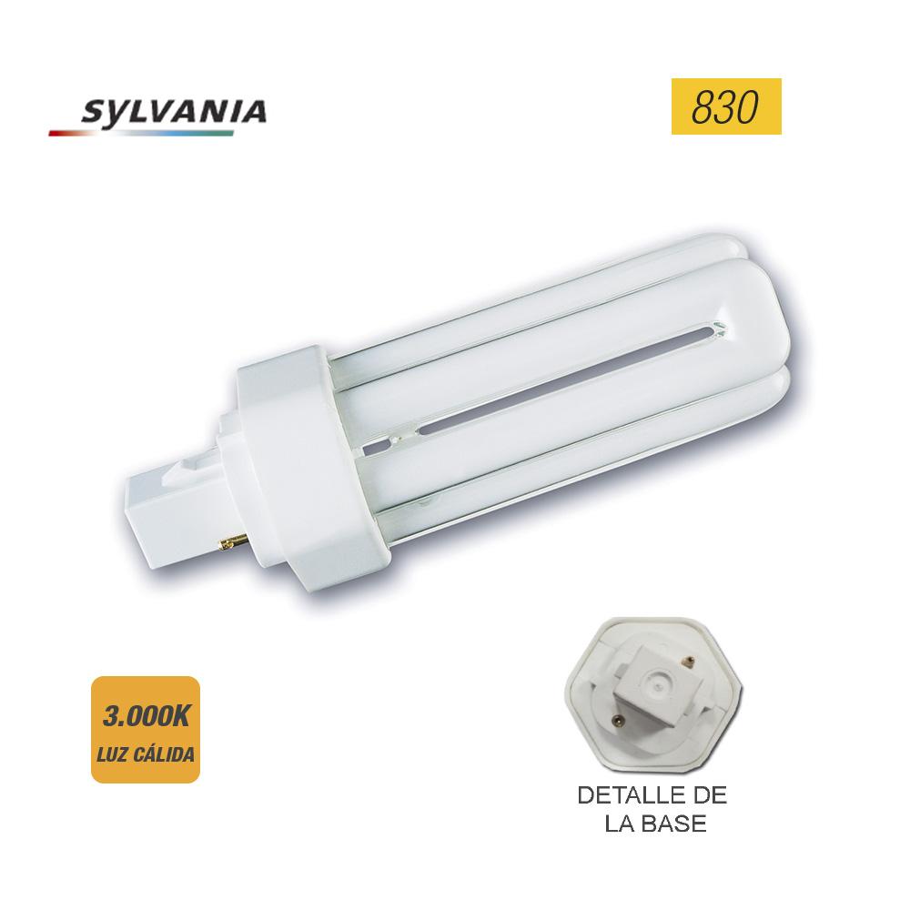 "Bombilla Lynx-T G24-D2 18W 830K 2 Pin ""Sylvania""  (Equivalencia Philips: Pl-T 2P)"