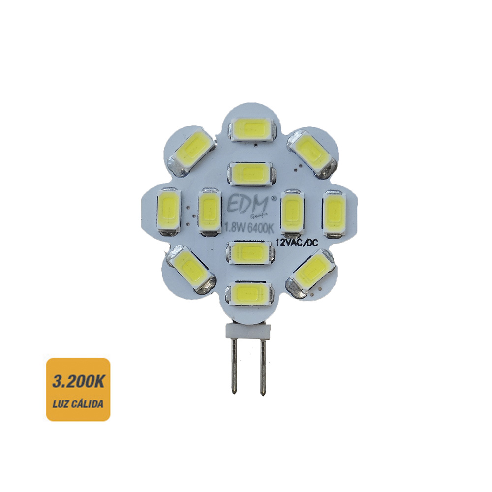 Bombilla Led G4 12V 1,8W Luz Calida 3000K