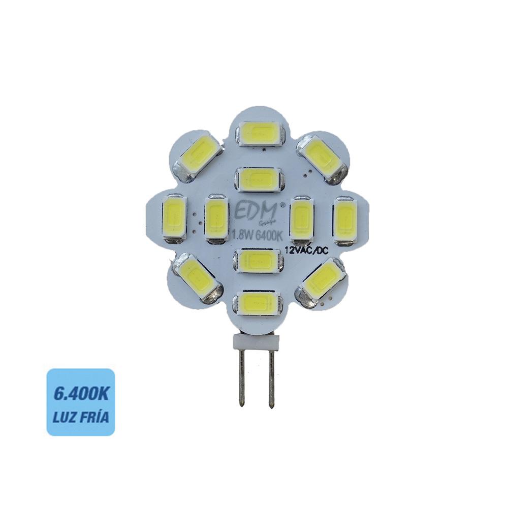 Bombilla Led G4 12V 1,8W Luz Fria 6400K