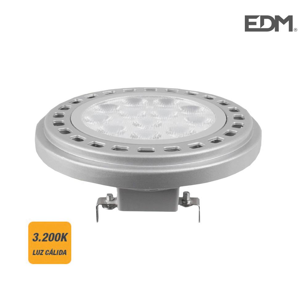Bombilla Led Ar111 12W G53 12V 900 Lumens 3.200K Luz Calida Edm