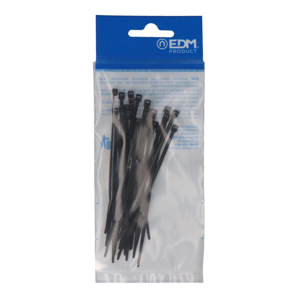 Bridas Negras 100X2,5 Envasadas (Bolsa 25 Unid.) Edm