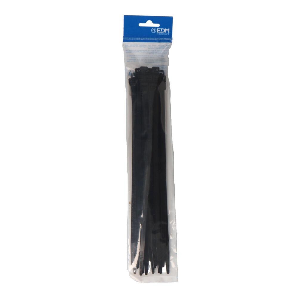 Bridas Negras  300 X 8  Envasadas (Bolsa 25 Unid.) Edm