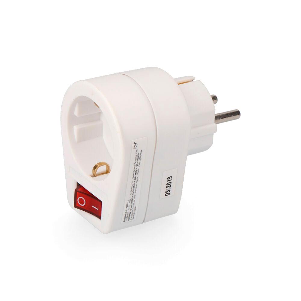 Clavija Adaptadora Con Interruptor  Retractilada(10128052) Edm